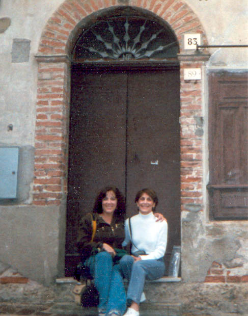 My mother (Angelina Gangemi Lewis) and I, on the stoop of her childhood home